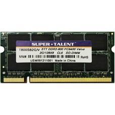 Memória SODIMM DDR2 800MHz 2GB SUPER*TALENT - T800SB2G/V