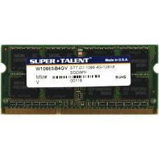 Memória SODIMM DDR3 1066MHz 4GB SUPER TALENT - W1066SB4GV
