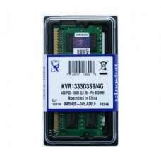 Memória SODIMM DDR3 1333MHz 4GB KINGSTON - KVR1333D3S9/4G