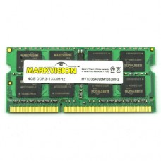 Memória SODIMM DDR3 1333MHz 4GB MARKVISION - MVTD3S4096M1333MHz