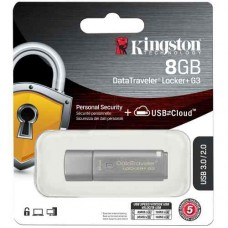 Pen drive 8GB  DataTraveler Locker + G3 KINGSTON - DTLPG3/8GB